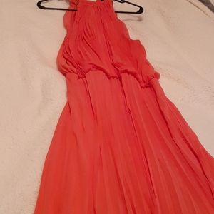 MSK Plus Size Halter Neckline Maxi Dress